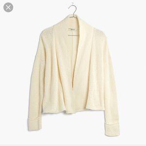 Madewell Shawl Collar Crop Cardigan-Cream NWOT